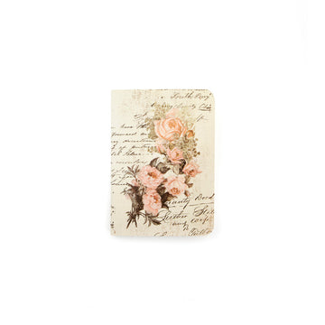 Notebook Inserts Passport Size - Dusty Roses