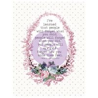 Poetic Rose 3x4 Journaling Cards