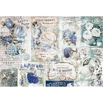 Georgia Blues 4X6 Journaling Cards