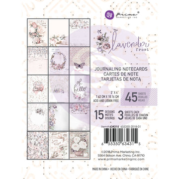 Lavender Frost 3X4 Journaling Cards