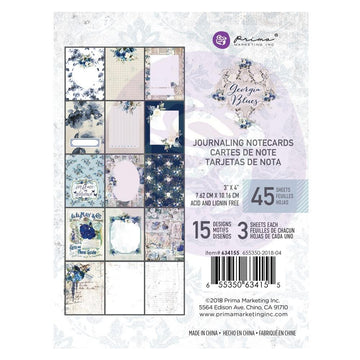 Georgia Blues 3X4 Journaling Cards