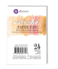 "2.5""x4.25"" Watercolor Paper Pad 24pc 140lbs cold press 655350847708"