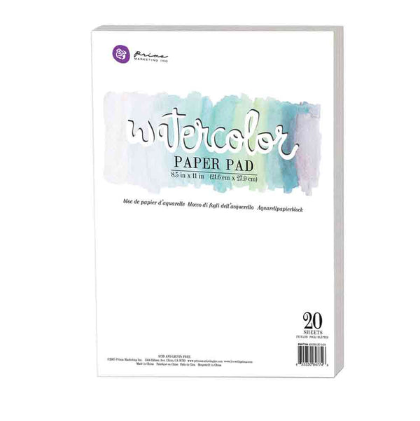 "8.5""x11"" Watercolor Paper Pad 20pc 140lbs cold press 655350847746"