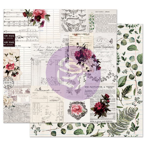 Midnight Garden 12x12 Sheet - Rose receipts
