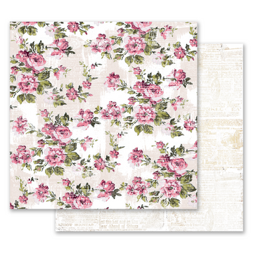 Misty Rose 12x12 Paper - The Memorable Floral Wall