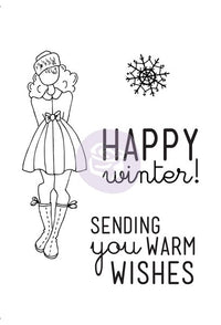 "Julie Nutting- Cling Stamp ""Warm Wishes"""