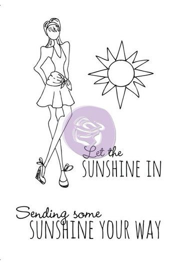 "Julie Nutting Cling Stamp-""Sunshine"""