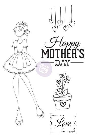 Julie Nutting Cling Stamp - Mama's Day