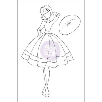 Julie Nutting   Doll Stamp - Audrey
