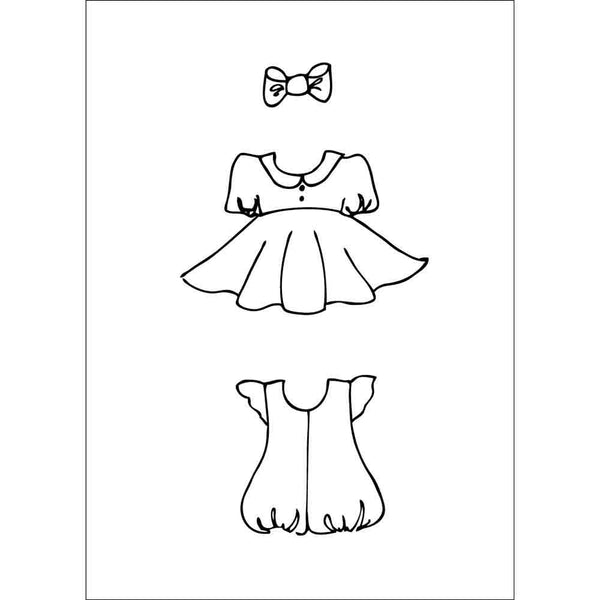 Julie Nutting    2.5 x 3.5 Cling Stamp -  Girl Set 655350911294