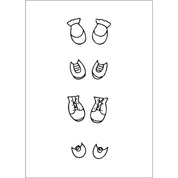 Julie Nutting    2.5 x 3.5 Cling Stamp - Shoe Set 655350911317