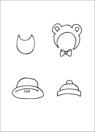 Julie Nutting    2.5 x 3.5 Cling Stamp -  Hat/Bib Set 655350911324