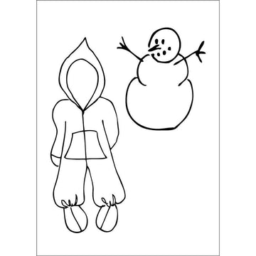 Julie Nutting    2.5 x 3.5 Cling Stamp - Snow Suit Set 655350911348