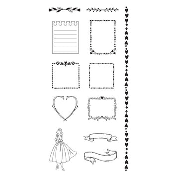 Julie Nutting  Doll Stamps - Frames 655350912130