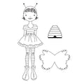 Julie Nutting Doll Stamps-Bee Girl 655350912154