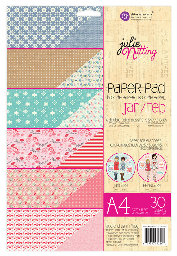 Julie Nutting  A4 Paper Pad  655350912260