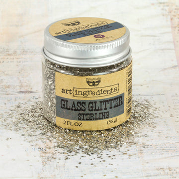 Art Ingredients-Glass Glitter: Sterling 56g