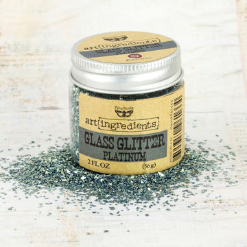 Art Ingredients-Glass Glitter: Platinum 56g