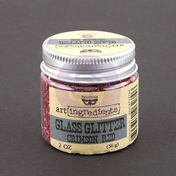 Art Ingredients-Glass Glitter: Crimson Red 56g