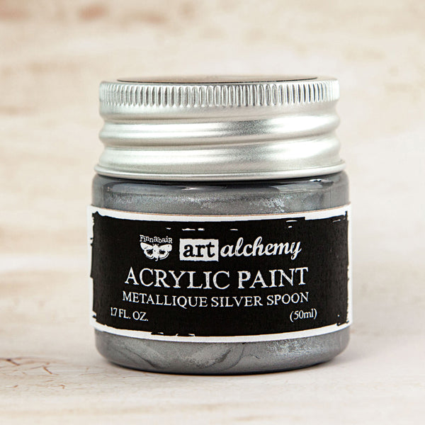 Art Alchemy-Acrylic Paint-Metallique Silver Spoon 1.7oz 655350963101