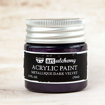 Art Alchemy-Acrylic Paint-Metallique Dark Velvet 1.7oz 655350963125