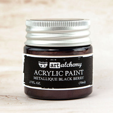 Art Alchemy-Acrylic Paint-Metallique Black Berry 1.7oz