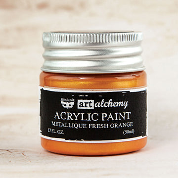Art Alchemy-Acrylic Paint-Metallique Fresh Orange 1.7oz