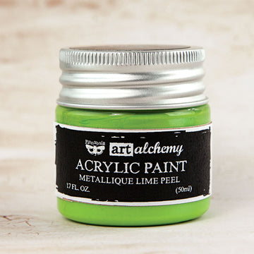 Art Alchemy-Acrylic Paint-Metallique Lime Peel 1.7oz