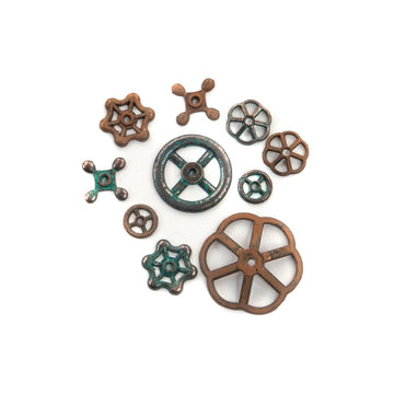 Finnabair Mechanicals Set Rusty Knobs