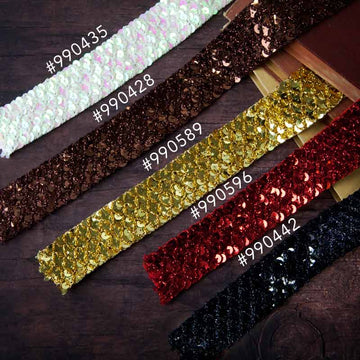 Memory Hardware Sequin Trim - Black 655350990442