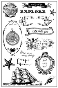 4x6 Cling Stamp-French Riviera 655350990923