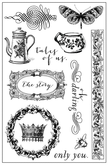4x6 Cling Stamp-Tales of you & me (Frank G) 655350990930