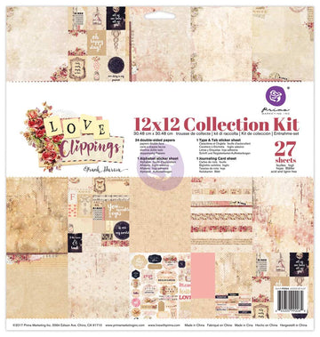 12x12 Collection Kit - Love Clippings