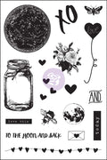 4x6 Cling Stamp - Love Clippings 655350992125
