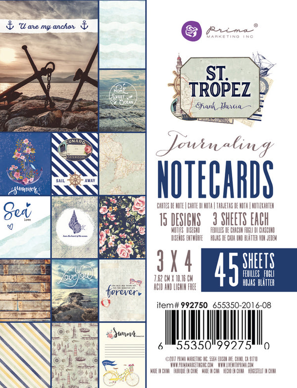 St. Tropez 3x4 journaling cards 655350992750