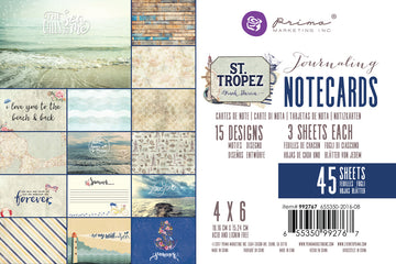 St. Tropez 4x6 journaling cards 655350992767