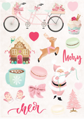 Santa Baby Puffy Stickers