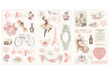 Love Story - Chipboard Stickers
