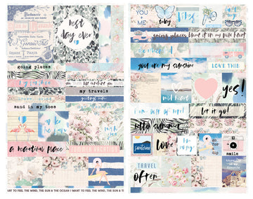 Santorini - Quote + Word Stickers