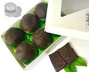 Keto Low Carb Pralines - Mint Chocolate, Vegan Sugar Free Gluten Free