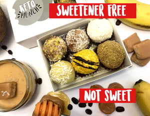 Sweetener Free (not sweet) - 6 Keto Low Carb Pralines - Autumn Mixed flavours Box Vegan Sugar Free Gluten Free