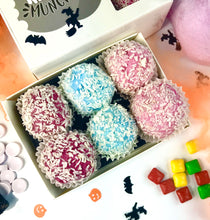 Load image into Gallery viewer, Keto Low Carb Pralines - Halloween Mixed Flavours Box (two of each 3 flavours) Vegan Sugar Free Gluten Free,keto-munch-bites.