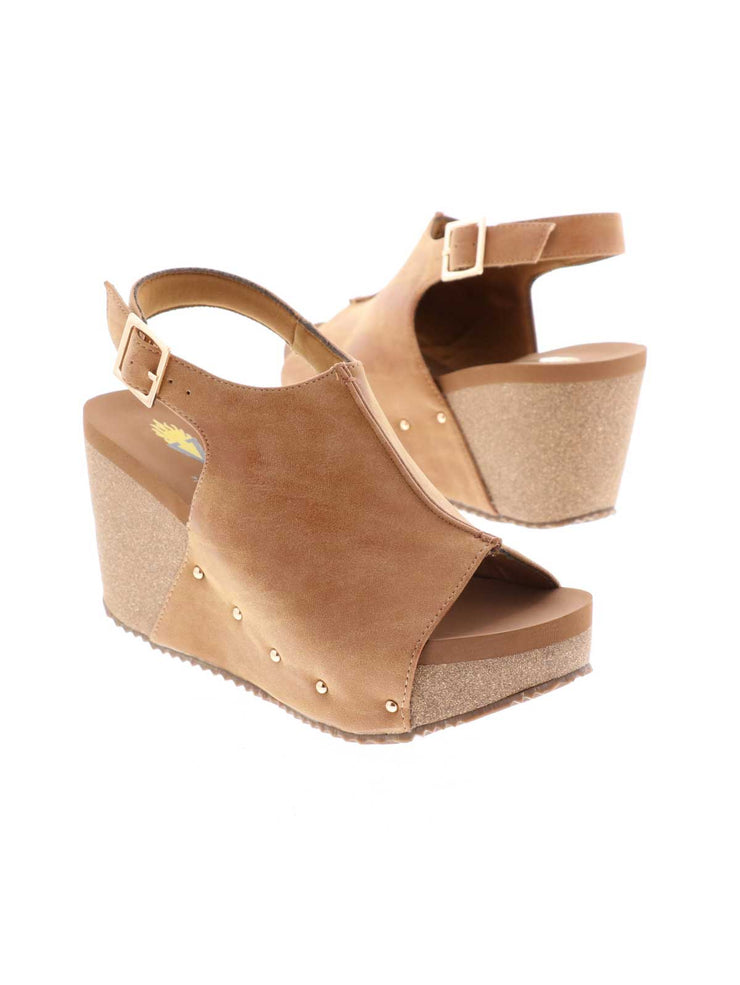 DIVISION WEDGE SANDALS WITH STUDS