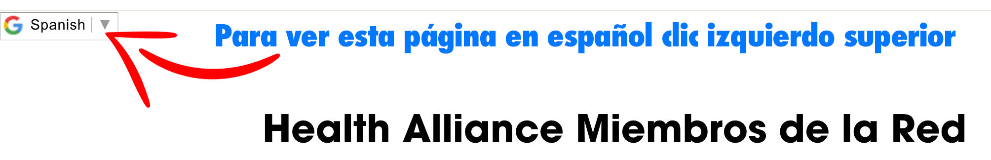 Health Alliance Network in Spanish