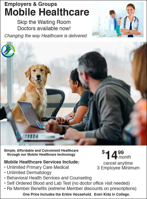 Test of Employers & Groups    -   $14.99 Per Employee Per Month Healthplan