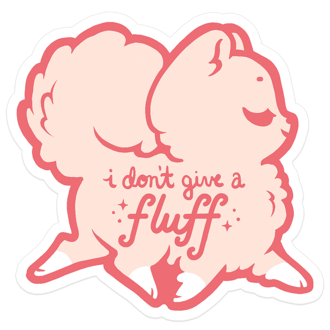 I Don't Give a Fluff Sticker