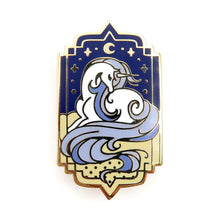 Load image into Gallery viewer, Oyasumi Enamel Pin • Blue