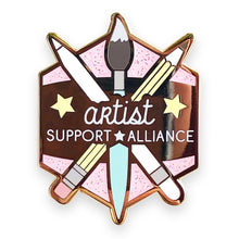 Load image into Gallery viewer, Artist Support Alliance Enamel Pin