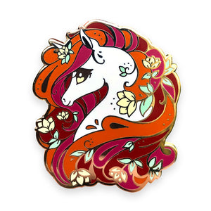 Autumn Unicorn Enamel Pin