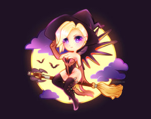 Pin-up Witch Mercy Mini Print